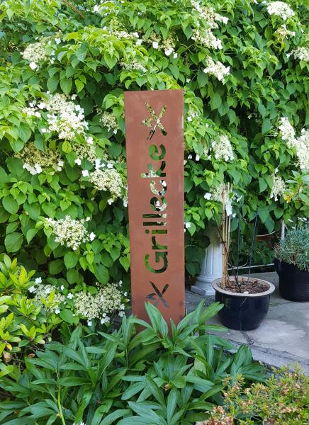 Gartenschild - Grillecke