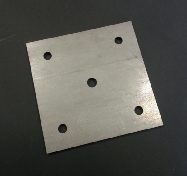 Ankerplatte 120 x 120 x 6mm Stahl gelocht