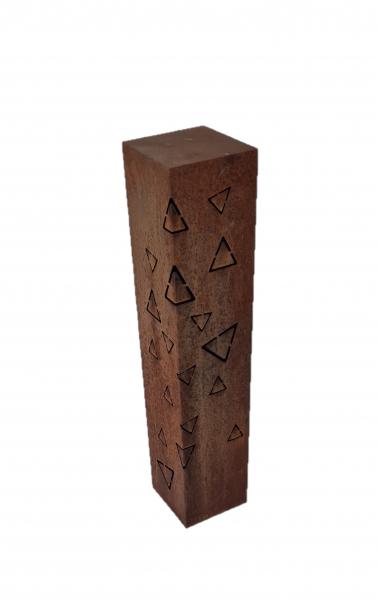 Edelrost Säule Geometrisch Dreieck