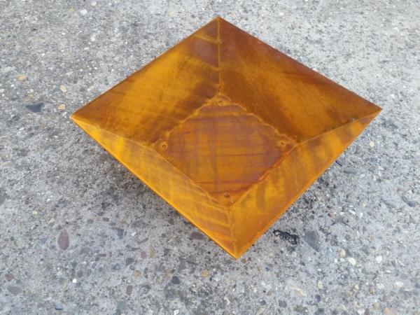 Edelrost Schale 40 x 40 cm