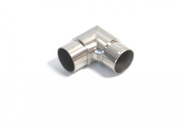 Edelstahl Steckecke Eckbogen 90° scharf für Rohr Ø 42,4 x 2,0mm