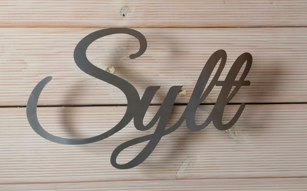 Schriftzug Sylt - Edelstahl