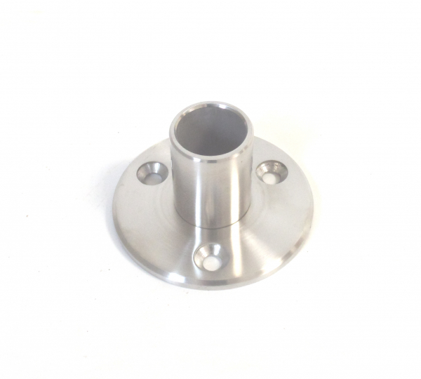 Edelstahl Bodenflansch für Rohr 42,4x2mm