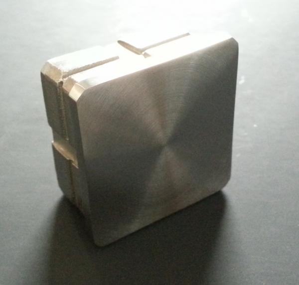 Quadratstopfen flach 40 x 40mm