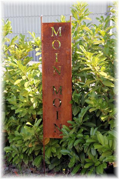Gartenschild - Moin Moin