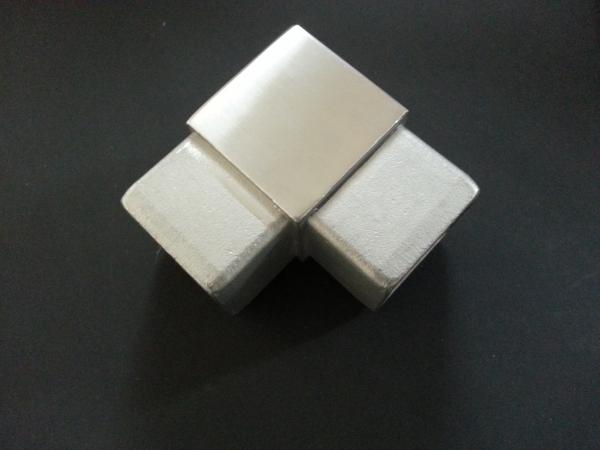 Steckecke 90° für Quadratrohr 25 x 25mm