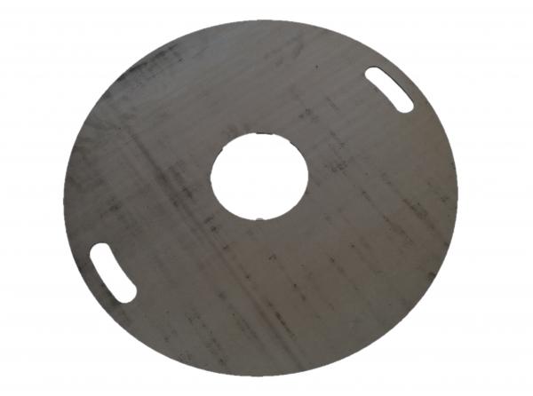 Grillplatte Ø80cm in 5,6 oder 8mm Materialstärke Stahlplatte