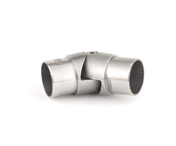 Edelstahl Gelenkbogen variabel 90° - 180° für Rohr Ø 42,4 x 2,0mm