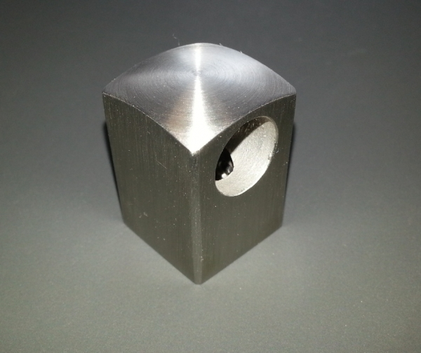 Querstabhalter quadratisch Rundstab Ø 12mm