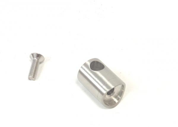 Edelstahl Querstabhalter für Stab Ø10mm Anschluss 42,4mm