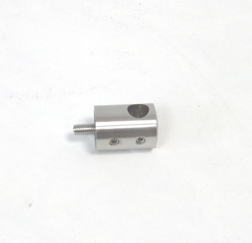 Edelstahl Querstabhalter für Stab Ø12mm Anschluss flach