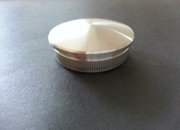 Rohr-Abschlussstopfen für 48,3x2,0mm gewölbt gegossen Rohrstopfen