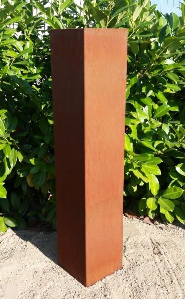 Edelrost Säule Schlicht 20 x 20 x 100 cm