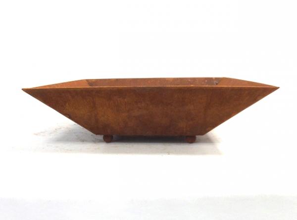 Edelrost Schale 38 x 38 cm groß