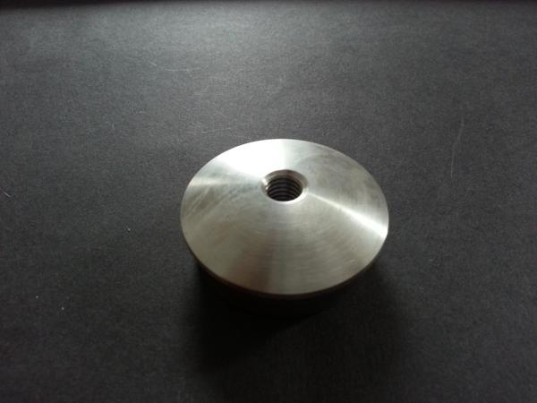Rohr-Abschlussstopfen für 42,4x2,0mm gewölbt mit Gewinde M8 massiv