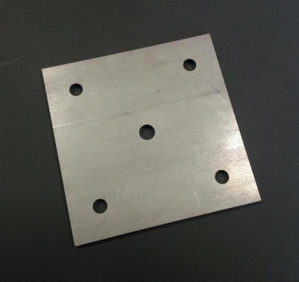 Ankerplatte 100 x 100 x 6mm Stahl gelocht