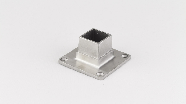 Bodenanker für Quadratrohr 60 x 60 x 2,0mm