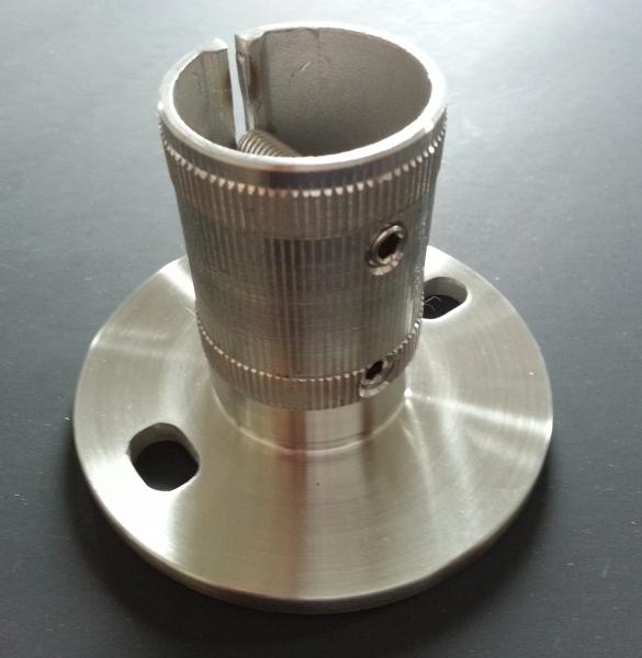 Bodenplatte 100x6 für Ø 42,4 x 2,0mm