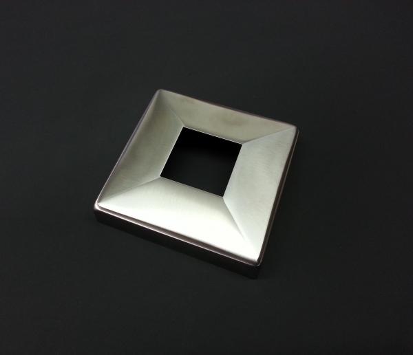 Rosette für Quadrat-Rohr 40x40mm V2A