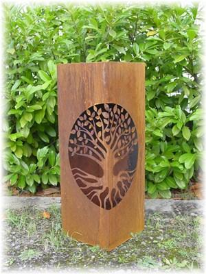 Edelrost Säule Lebensbaum