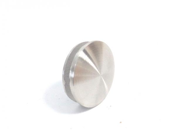 Rohrstopfen für Rohr Ø48,3x2mm gegossen gewölbt Edelstahl