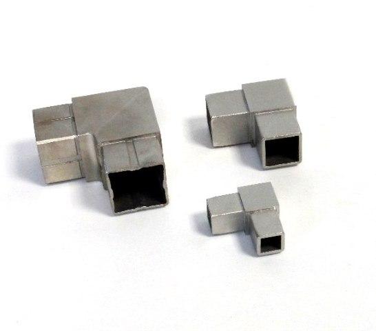 V4A Edelstahl Eckverbinder 90° für Quadratrohr Steckecke