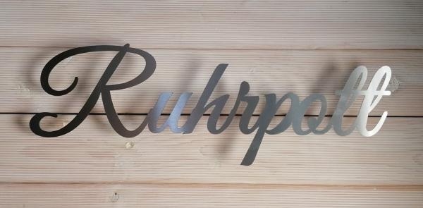 Schriftzug Ruhrpott - Edelstahl