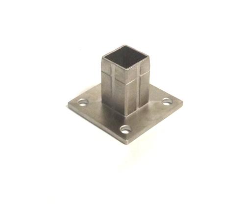 Bodenanker für Quadratrohr 40 x 40 x 2,0mm