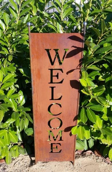 Gartenschild Welcome