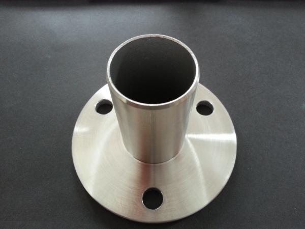 Bodenplatte Einpressflansch 100x6 für Ø 42,4 x 2,0mm