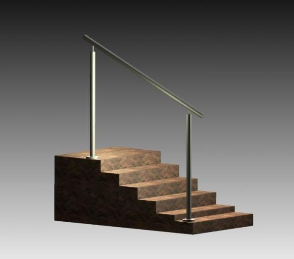 Treppengeländer/Absturzsicherung - Bausatz 1000mm